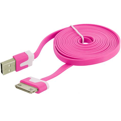 Usb Data Cable 6 ft noodle flat usb sync data cable cord 6ft for iphone 4
