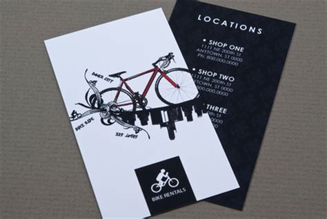 bicycle business card template bike rental business card template inkd