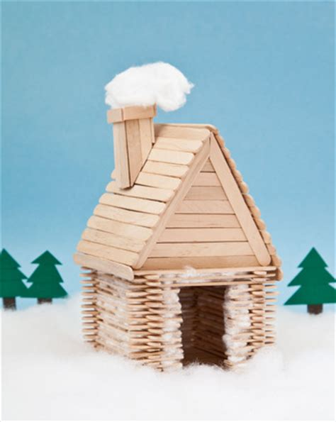 Popsicle Stick Cabin by Anti Glitter Pro Googly Wow Wednesday C Crafts