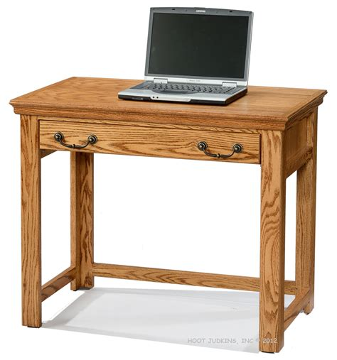 36 Computer Desk Hoot Judkins Desks Oak Traditional 36 Quot Laptop Computer Writing Desk
