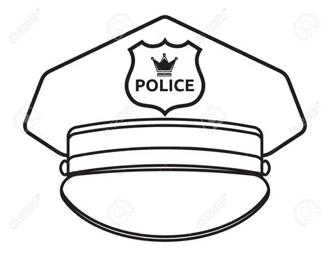 policeman hat drawing www imgkid com the image kid has it
