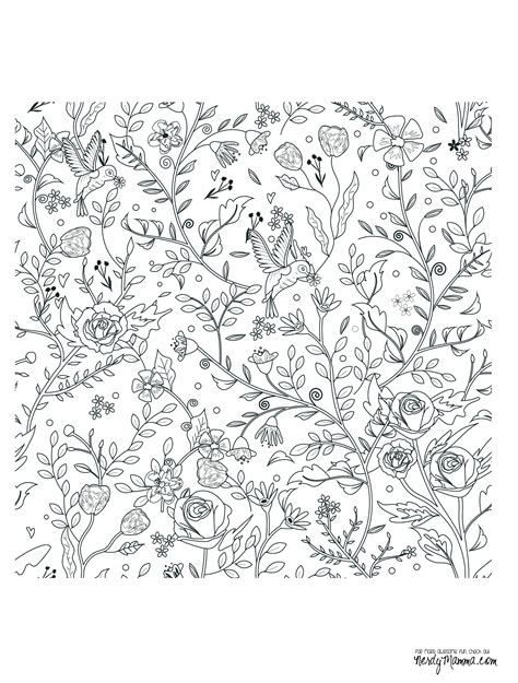 coloring pages of little flowers 11 free printable adult coloring pages