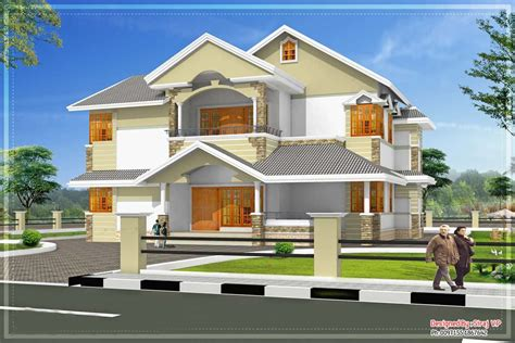 kerala home design and elevations sloping roof kerala villa elevation at 3700 sq ft