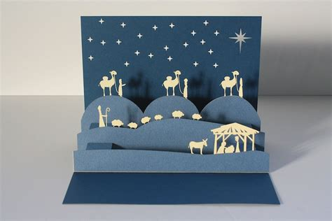 pop up nativity card template diy decorations
