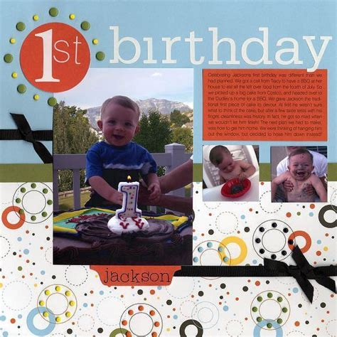 layout design for 1st birthday 1st birthday scrapbook layouts pinterest