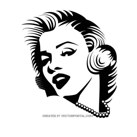 marilyn monroe vector portrait by vectorportal on deviantart