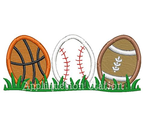 sports easter eggs easter egg sport row applique machine embroidery design
