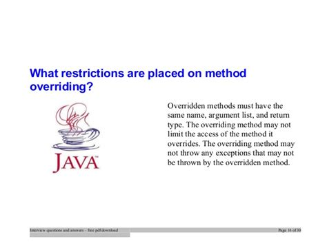 java tutorial questions answers top java interview questions and answers job interview tips