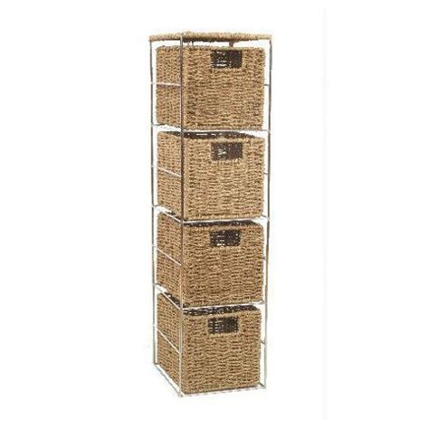 4 drawer storage tower buy wicker valley 4 drawer storage tower from our shelving