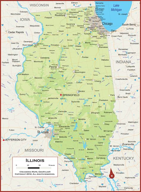 illinois physical map 21 awesome illinois landscape map swimnova