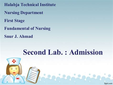 fundamental of nursing2 admission