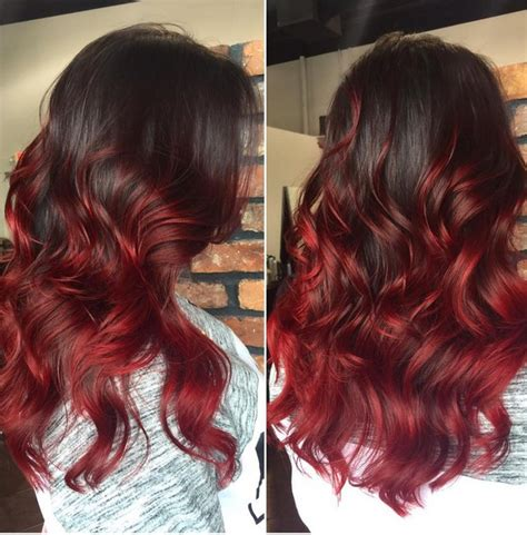 how long will it take for ombre to grow out 18 striking red ombre hair ideas popular haircuts