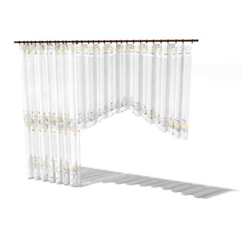 sash curtains sheer fabric sash curtain 3d model 3dsmax 3ds files free