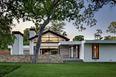 Ranch Home Goes Modern Contemporary Exterior Dallas Dallas Home Design