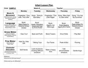 printable infant lesson plan template 7 best lessons images on pinterest crafts for kids