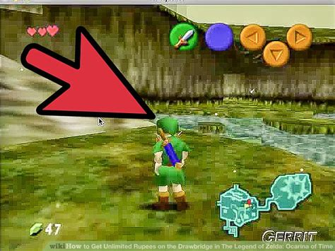 legend of zelda rupee map how to get unlimited rupees on the drawbridge in the