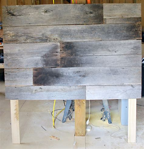 diy barn board headboard diy project salvaged barnwood headboard design sponge