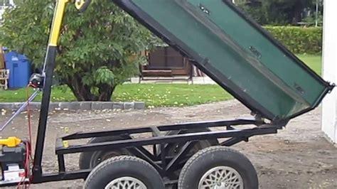 Dump Bed Trailer Dump Trailer Pour Sable Youtube