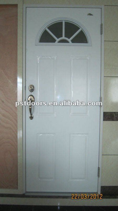 glass insert for exterior steel door safety residential iron steel entry doors with glass