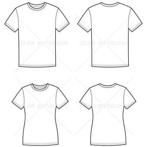 T Shirt Flat Sketches by S And S T Shirt Fashion Flat Templates