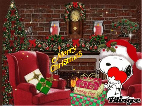 snoopy christmas   fireplace picture  blingeecom