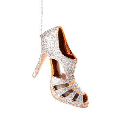 silver high heel decoration from paperchase christmas