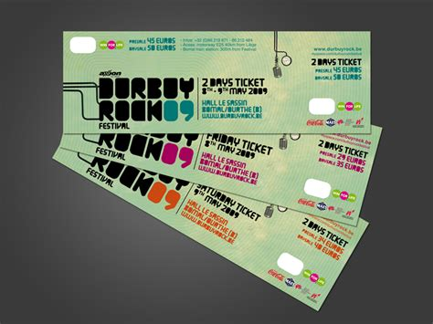 32 excellent ticket design sles uprinting
