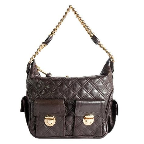 Marc Melinda Chain Hobo by Marc Quilted Leather Multipocket Chain Hobo Handbag