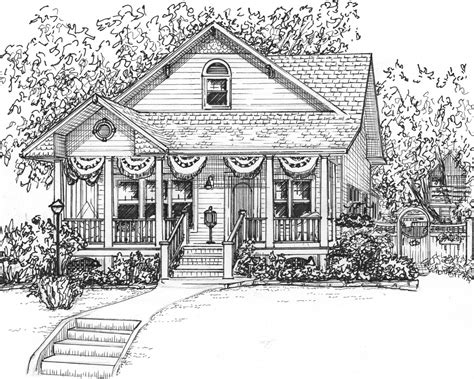 residential ink home design drafting custom ink house drawing 8x 10 portrait of your