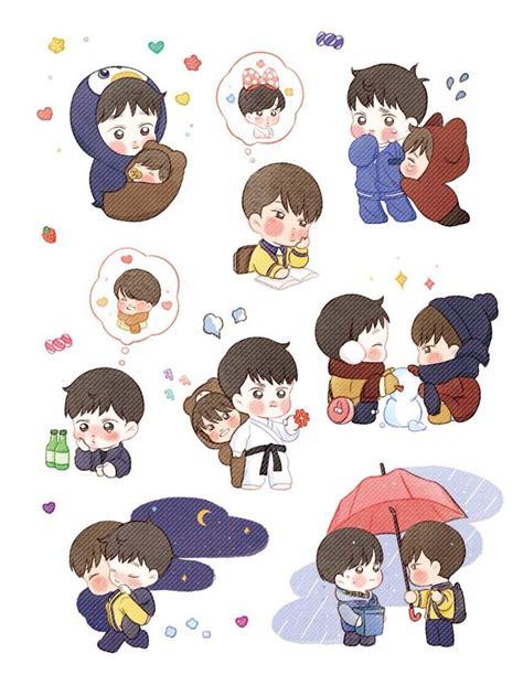 Sum Exo Kokobop Sticker Set embedded image exo fanart stickers exo