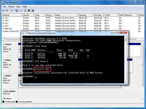 diskpart format ntfs gpt use diskpart command prompt to resize partition on windows 7