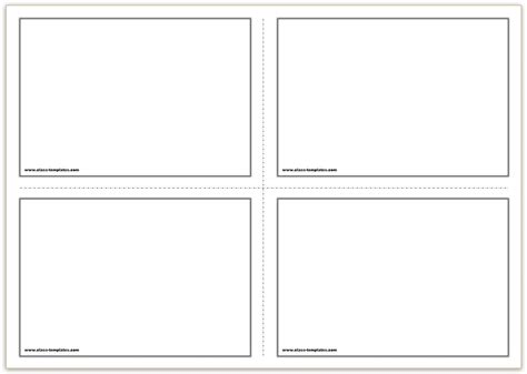 card a4 template free printable flash cards template