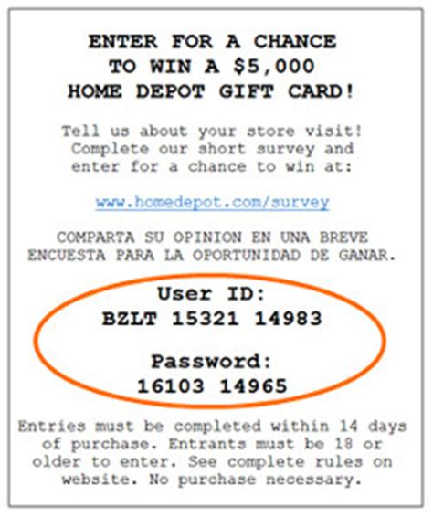 sweepstakes help home depot increase customer survey