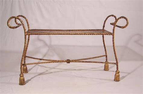 window bench for sale 8392 vintage gilt iron rope twist window bench for sale