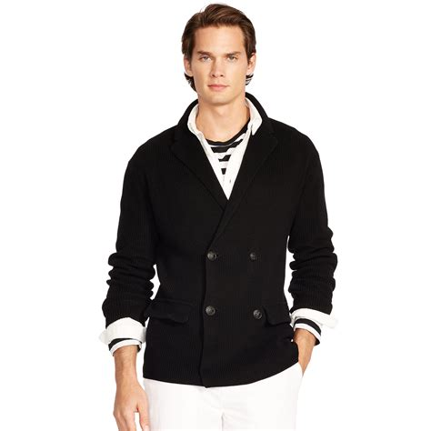 Sweater Blazer Cardigan Cotton Rajut 2 polo ralph cotton sweater blazer in black for