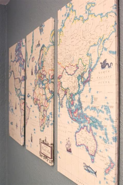 Decoupage On Walls - where in the world vintage maps decoupage and wall decor