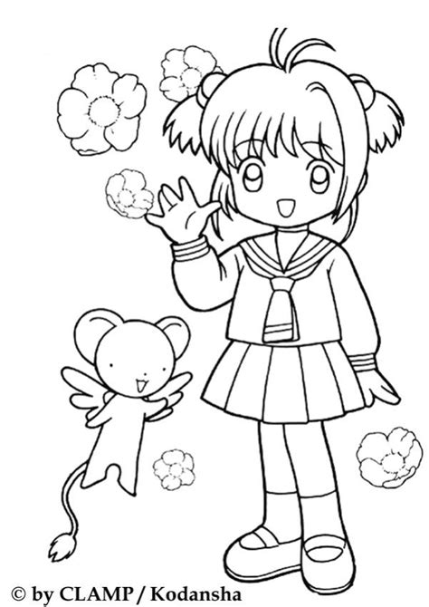 Anime Girls In School Uniforms Coloring Pages Sketch Anime School Coloring Pages