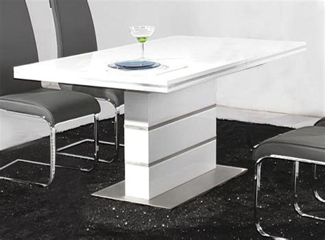 heartlands dolores dining table in high gloss white blue
