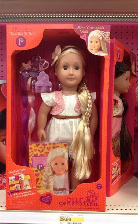 generation phoebe hair play doll target