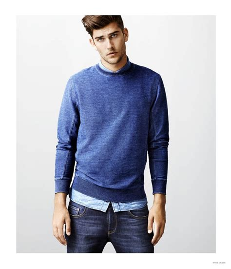Jaket Sweater Hoodies Kasual Pria Rrl 004 myer shows how to wear denim on denim for fall winter 2015