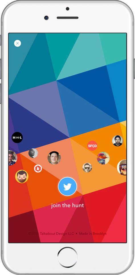 Design Hunt App | design hunt a great source of inspiration into an app