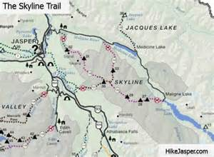 map of jasper hike jasper maps