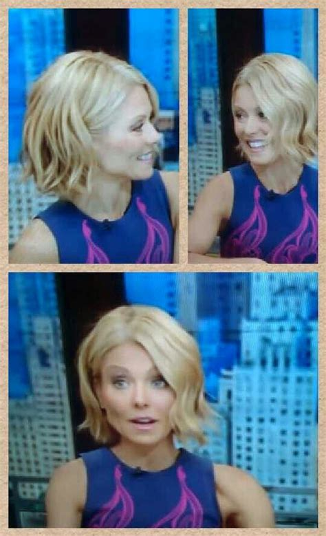 how does kelly ripa style her hair kelly ripa bob wave kelly ripa hair pinterest bobs