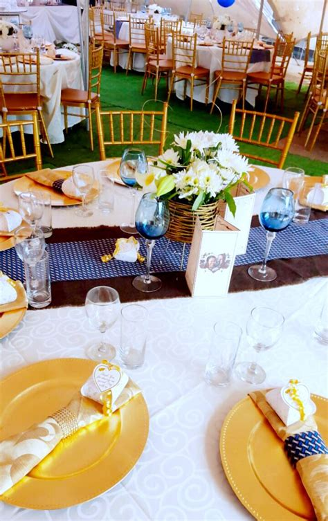 Traditional Wedding Decor by Gold And Royal Blue Traditional Wedding Decor At Shonga
