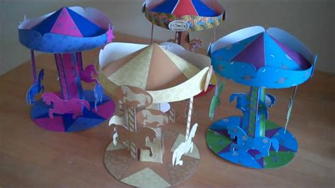 How To Make A Carousel Out Of Paper - magical spinning carousels