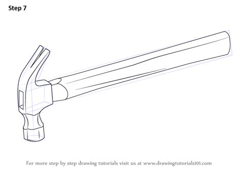 how to draw tools learn how to draw a hammer tools step by step drawing