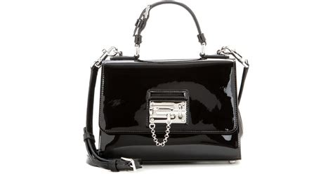 Dolce And Gabbana Patent Leather Shoulder Bag by Dolce Gabbana Small Patent Leather Shoulder Bag