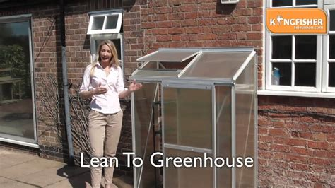 how do i build a greenhouse in my backyard kingfisher lean to greenhouse youtube