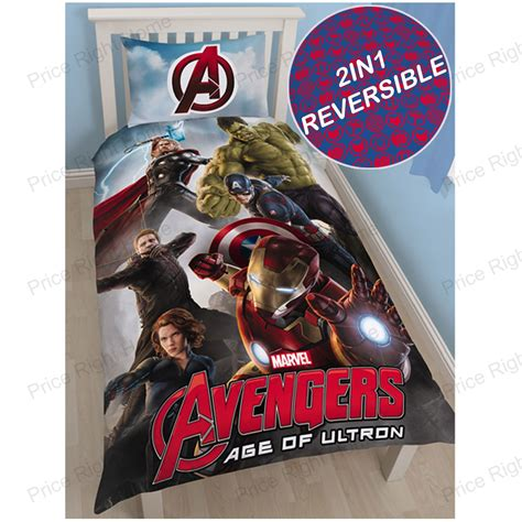 King Size Marvel Duvet Cover Marvel Avengers Age Of Ultron Single Duvet Cover Set New