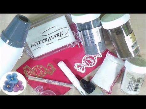 tutorial scrapbook embossing como hacer embossing facil scrapbooking scrapbook